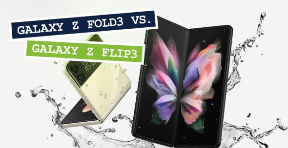 Das Samsung Galaxy Z Fold3 und das Samsung Galaxy Z Flip3