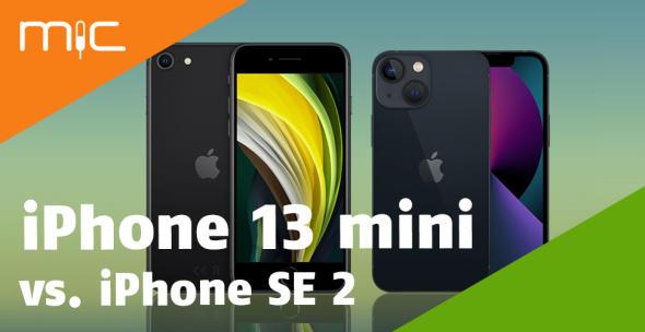 iPhone 13 mini und iPhone SE 2