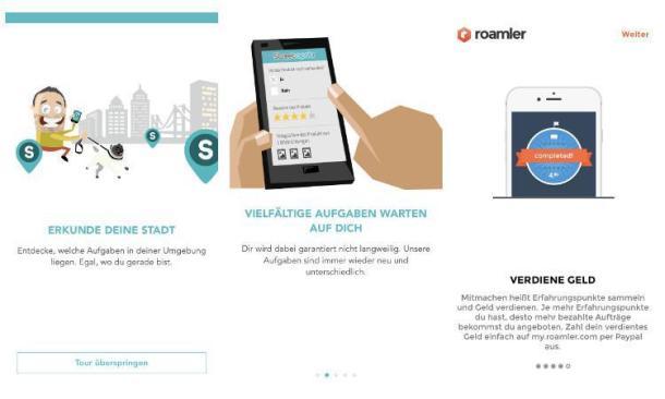 Screenshots von Apps zum Geldverdienen.