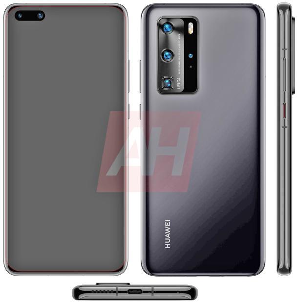 So könnte das neue Huawei P40 (Pro) aussehen.