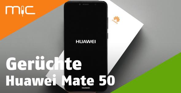 Ein Huawei-Smartphone liegt auf der Verpackung.
