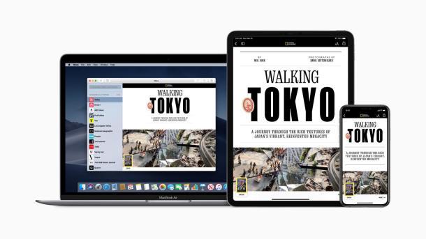 Apple News+ bietet diverse Zeitschriften an - der Dienst wird aber eher nicht nach Deutschland kommen.