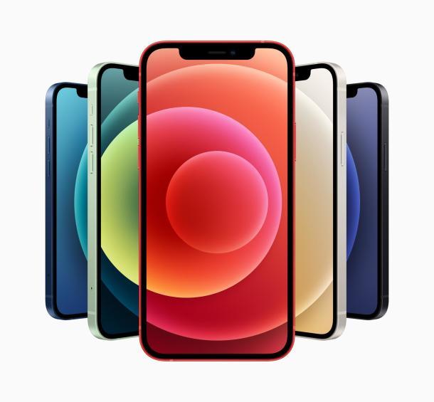 Die fünd Farbvarianten des iPhone 12
