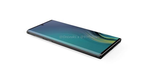 DasSamsung Galaxy Note 10 mit dem Infinity-O-Display