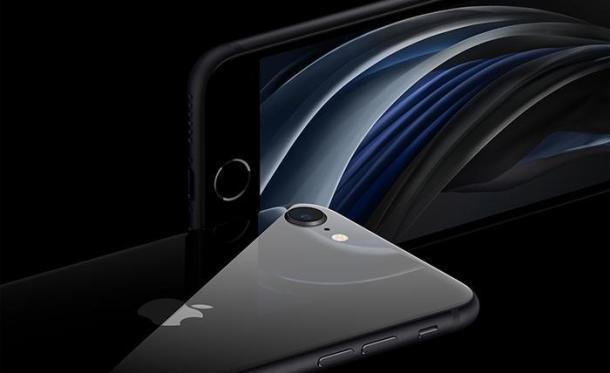 Das iPhone SE 2 von vorne und hinten mit Homebutton und einfacher Kamera