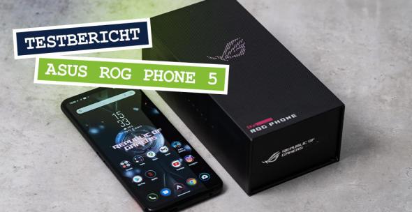 Das Asus ROG Phone 5 mit Verpackung
