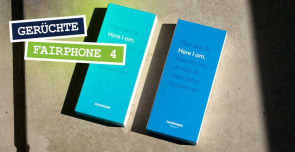 Die Verpackungen von zwei Fairphones.