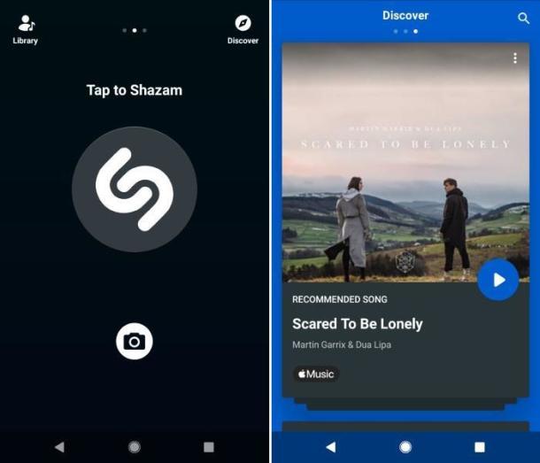 Bilder der App Shazam.