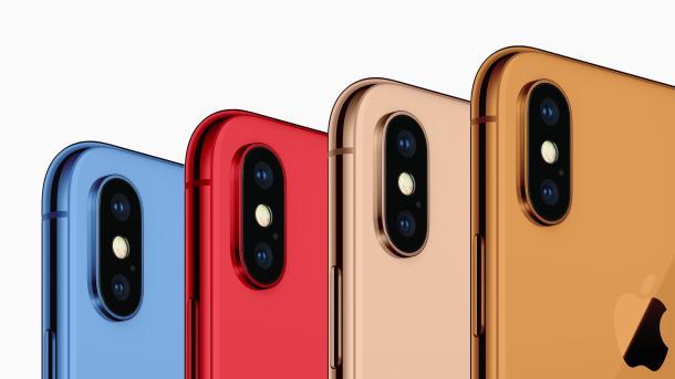 Drei neue Modelle des iPhone soll es 2018 geben. Die günstige Variante könnte in knalligen Farben kommen.