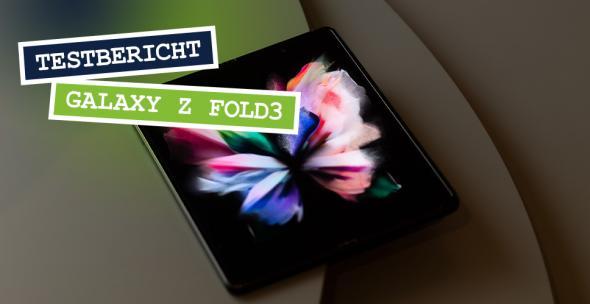 Das Samsung Galaxy Z Fold3 in ausgeklapptem Zustand