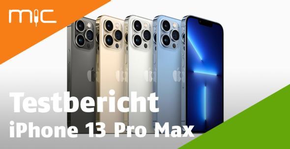 Fünf iPhones 13 Pro Max in verschiedenen Farben