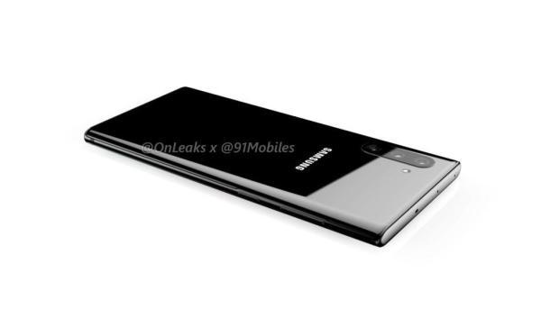 Die mögliche Rückseite desSamsung Galaxy Note 10