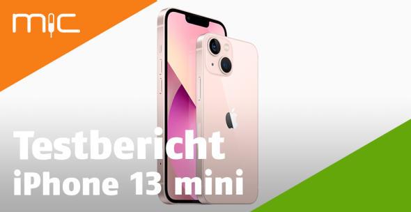 Rosafarbenes iPhone mini in Vorder- und Rückansicht