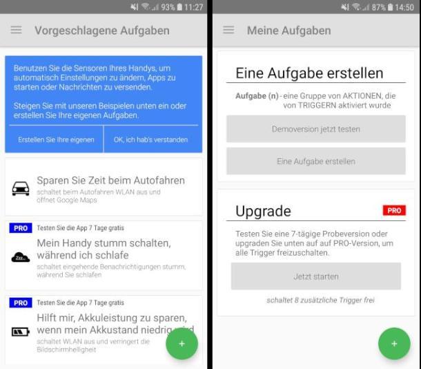 Screenshots NFC-Einstellungen in Android.