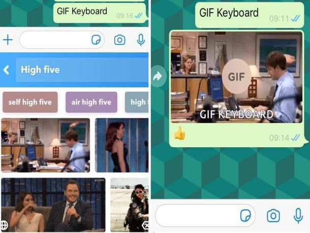 Screenshot der App Gif Keyboard