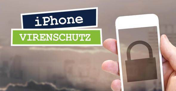 iPhone mit Schlosspiktrogramm auf dem Display