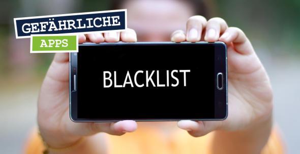 Handy-Display mit Aufschrift Blacklist