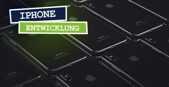 iPhones dicht nebeneinander gelegt