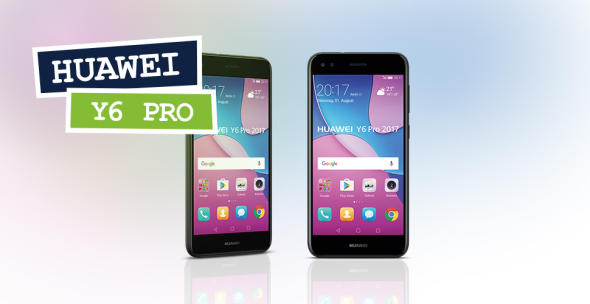 Das Huawei Y6 Pro aus zwei Perspektiven