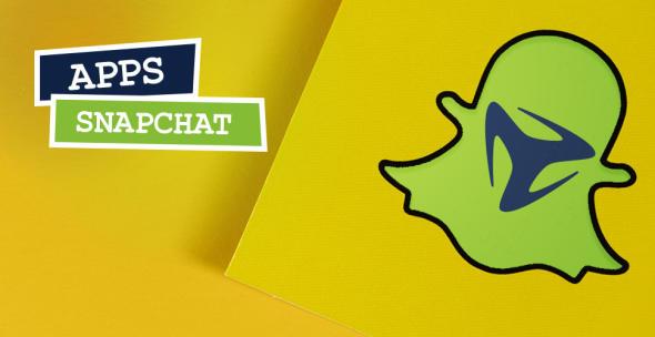 Grafik mit Snapchat Logo