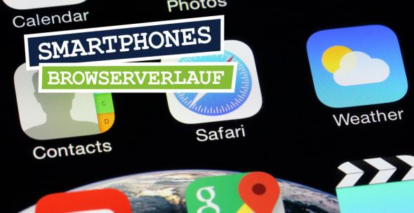 Safari-Browser auf dem iPhone Bildschirm