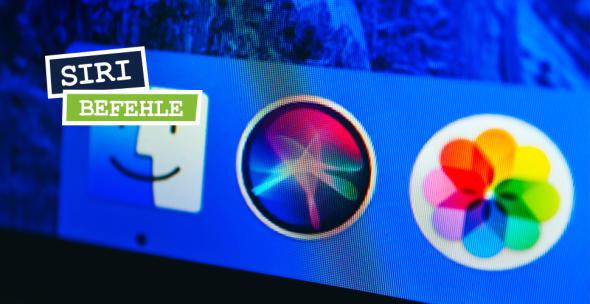 Siri-Icon neben auf dem Betriebssystem MacOS.
