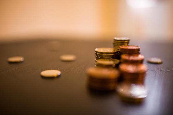 Bank Geld Tisch