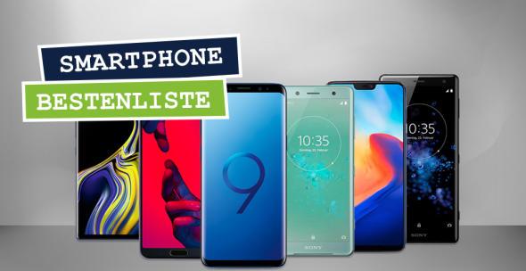 Die besten Smartphones 2018: Mit dabei natürlich Samsung, Huawei und Sony.
