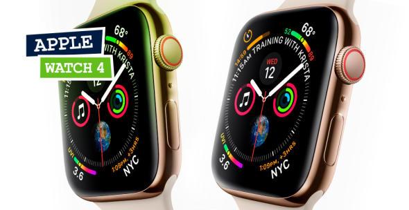 Die Apple Watch 4 in zwei verschiedenen Fab\_Varianten.