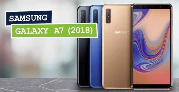 Das Samsung Galaxy A7 (2018) verfügt über eine Triple-Kamera.