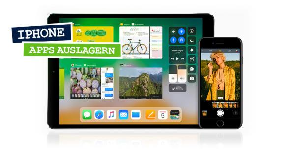 Symbolbild von iPad und iPhone für das Auslagern von iPhone-Apps.