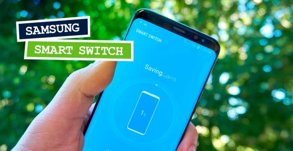 Smartphone mit geöffneter Smart Switch App
