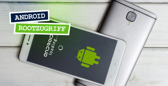 Zwei Smartphones mit darauf abgebildetem Android-Logo.