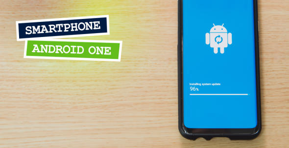 Ein Android-Phone beim System-Update.