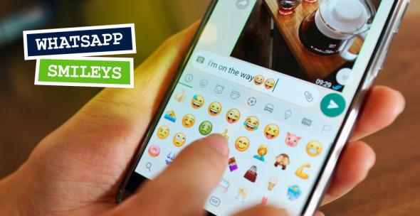 Auswählen von Smileys auf Whatsapp