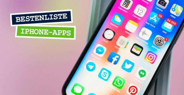 Die Oberfläche auf einem iPhone mit diversen Apps.