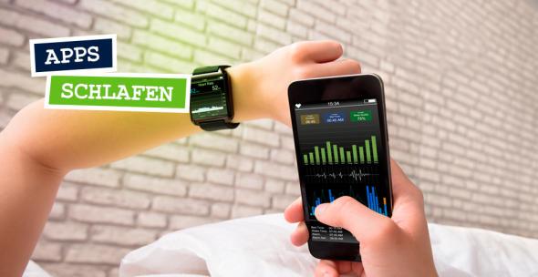 Eine Schlaf-App gibt Auskunft über Schlafphasen der vergangenen Nacht.