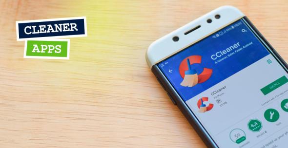 Smartphone-Display mit Cleaner-App