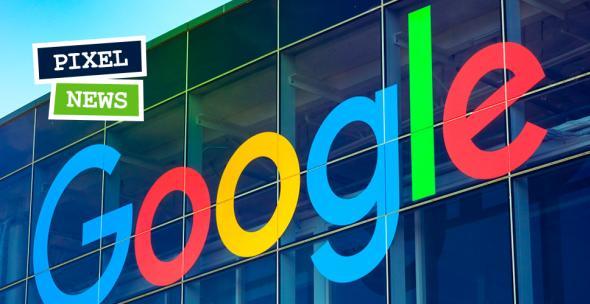 Das Logo des Tech-Giganten Google an einem Gebäude.
