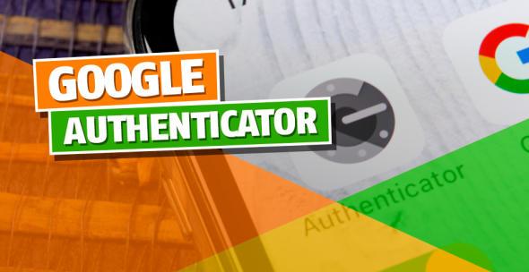 Die Google Authenticator App auf einem Smartphone.
