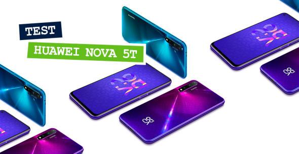 Das neue Huawei Nova 5T in verschiedenen Farben.