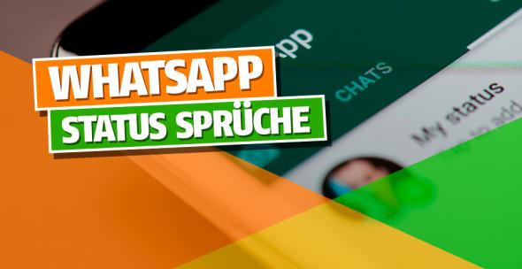 Auf einem Smartphone der Status-Bereich von WhatsApp geöffnet.
