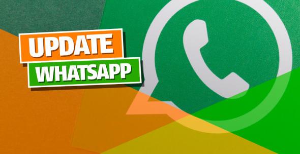 Das WhatsApp-Logo auf grünem Hintergrund.