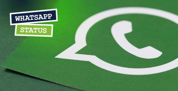 Das WhatsApp-Logo auf grünem Untergrund.