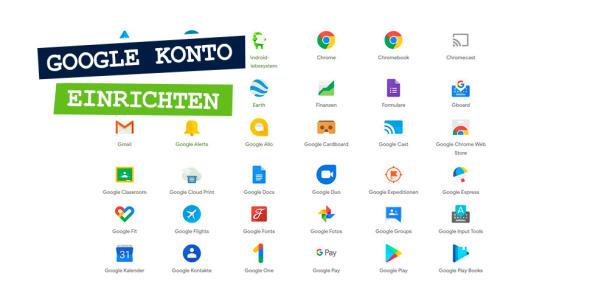 Screenshot der diversen Google-Dienste.