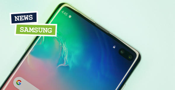 Die obere Hälfte des Samsung Galaxy S10 Plus