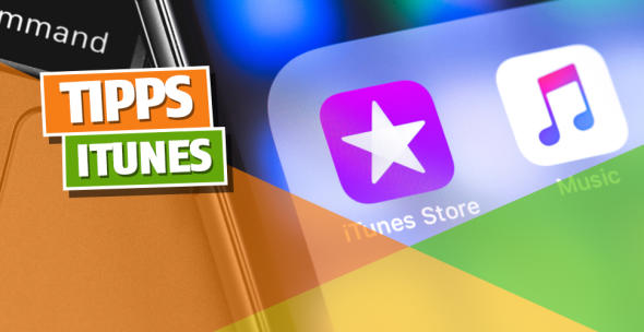 Das iTunes Store Icon auf dem Bildschirm eines iPhones