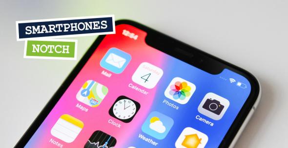 Das iPhone X mit großer Notch