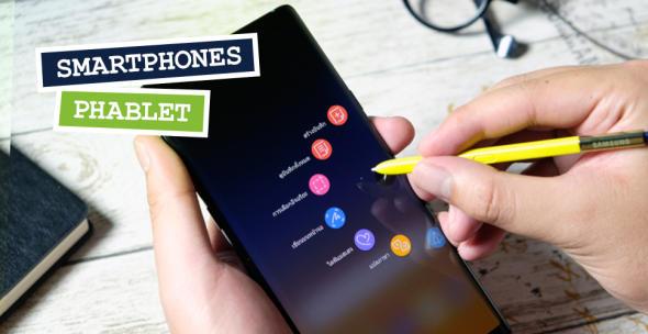 Das Phablet Samsung Galaxy Note 10 wird mit einem Stift bedient.