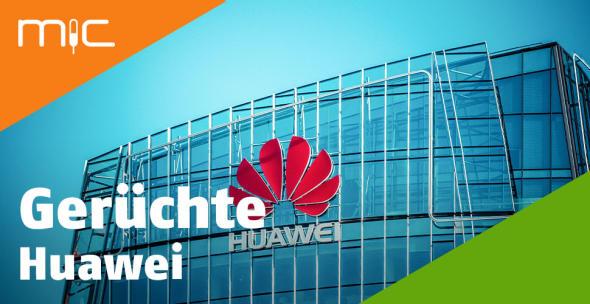 Ein Gebäude mit Huawei-Logo